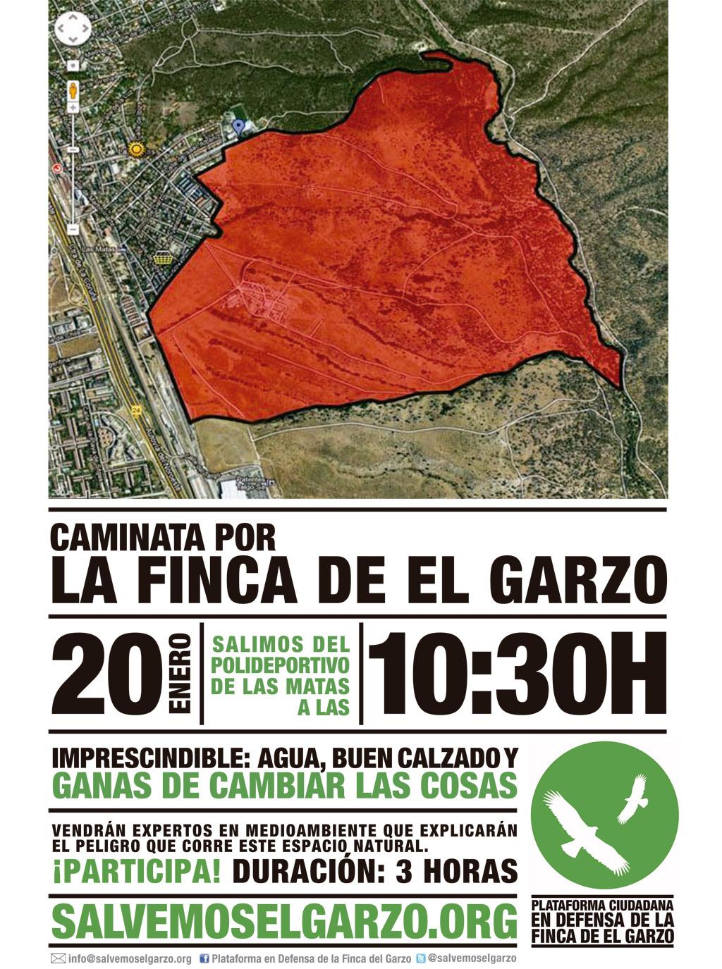 Caminata por la Finca de el Garzo el próximo domingo 20